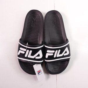 Fila Sleek Slide Sandals Black/White